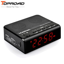 TOPROAD Stereo Bluetooth Speaker Portable Wireless Speakers caixa de som Support TF FM Radio Alarm Clock with Mic LCD Display(China)