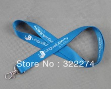 "Discount buy cheap personlized customized logo imprint nylon lanyards,1""inch width business meeting flat logo strap lanyard"