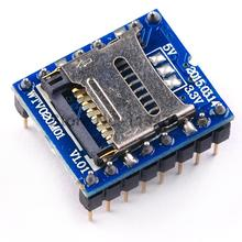 5PCS/LOT MP3 Voice module Sound module U-disk audio player SD card voice module WTV020 SD 16P Free Shipping(China)