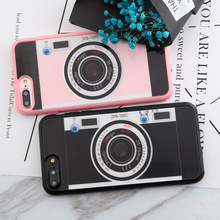 SoCouple Retro Fashion For iphone 8 7 5 5s SE 6 6s 6/7/8 plus Case Soft Silicone Painting Vintage Camera TPU Phone Cases Cover(China)