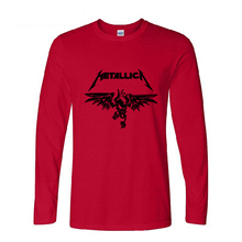 Classic Heavy Metal Metallica Rock Men's T-Shirt T Shirt male 2017 New long Sleeve Cotton Casual Top Tee Masculina fashion men