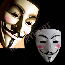 Hot Scary Face Mask V for Vendetta Party Masquerade Mask Fancy Dress Costume Guy Fawkes Anonymous Halloween Masks(China)