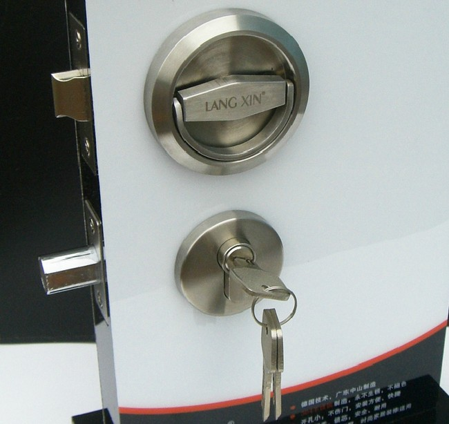 Door Locks Stainless Steel 304 Recessed Cup Handle Privacy Door Locks Set with keys<br>