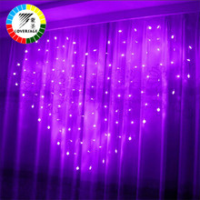 Coversage Heart Fairy String Lights Curtain Outdoor Home Wedding Christmas Decorative String Fairy Curtain Garlands Party Lights