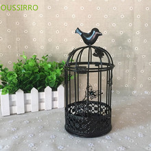 butterfly birdcage candlesticks European metal candleholder for wedding free shipping(China)