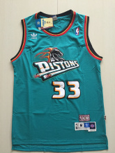 Wholesale Classic #33 Hill Detroit Jersey Top Quality Men Vintage basketball Jersey(China)