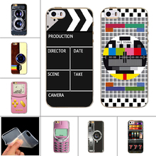 Nostalgia Design Soft TPU Case for iPhone 6 6s 5 5s Silicone Fashion Novelty Back Cover Tape Camera Painting Case Cover Capas(China)