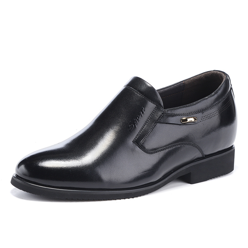 Zmp6663 New Style Oxford Dress Shoes for Men Leather Office Mens Flats Shoes Height Increasing Footwear Slip On Black/Brown<br><br>Aliexpress
