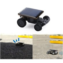 Mini Toy Solar Power Car Robot Auto Racer Educational Gadget Children Kid's Toys Gifts(China)