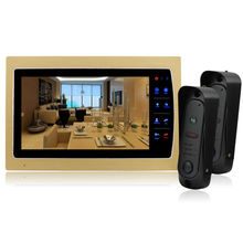 Homefong 10inch Video door phone with Recording function SD card Unlock Hands-free Call& Intercom function Auto-Night(China)