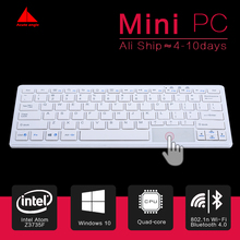 New Minipc Quad Core Mini PC Windows 10 Computer Keyboard  Mouse 1.33GHz Intel atom Z8300  HDMI TV Box WiFi/RJ45 Micro PC