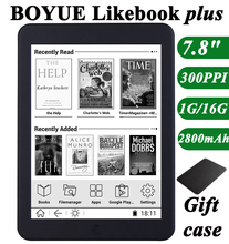 "Boyue likebook plus ebook reader 7.8"" touch screen 300ppi 1G/16GB online reading 2800mAh wifi bluethoth transfer free shipping(China)"