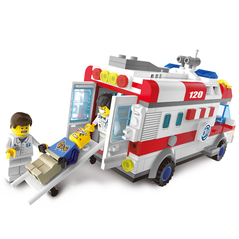 Models-building-toy-Enlighten-1118-Ambulance-Nurse-Doctor-First-Aid-328Pcs-Building-Blocks-compatible-with-lego (2)