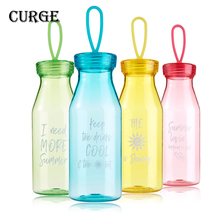 CURGE Brief Direct Drinking With Silicone Rope Plastic Water Bottle 500ml Green Blue Red Yellow #1105