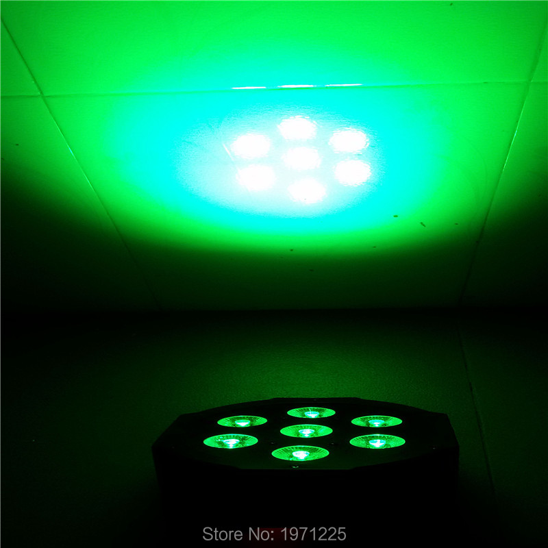7x 9W RGB DMX Stage Lights Business Lights Led Flat Par High Power Light with Professional for Party KTV Disco DJ EU<br><br>Aliexpress