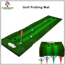Golf Mat 75x300cm Indoor Training Putting Pad Practice Hole Cup Holder Eco-friendly Outdoor Backyard Golf Green Trainer(China)