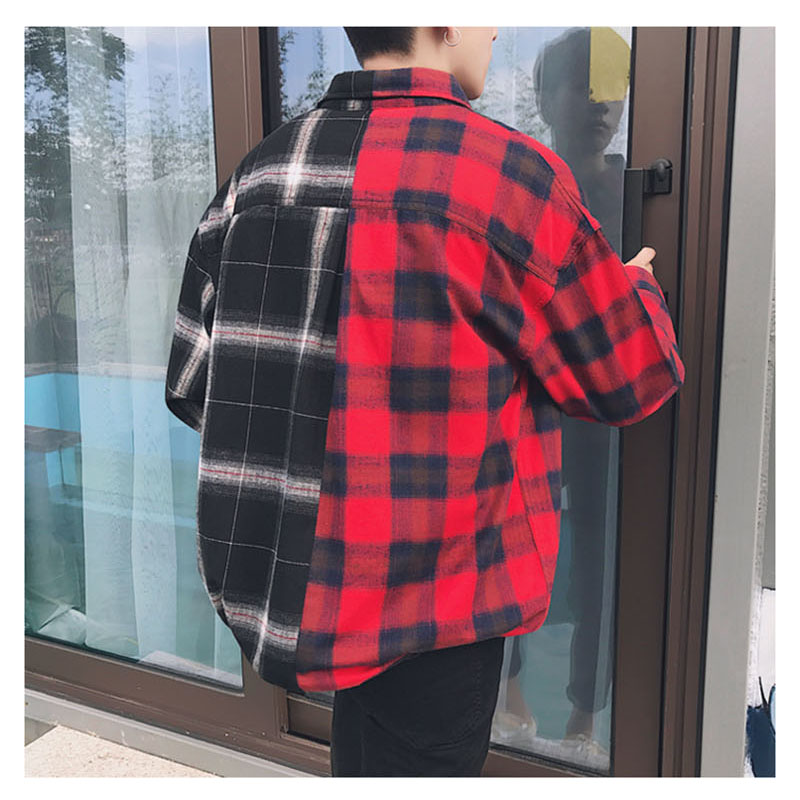 Aolamegs Shirts Men Classic Patchwork Plaid Male Shirts Thin Cotton Full Sleeve Shirt Fashion Casual Slim College Style Autumn (16)