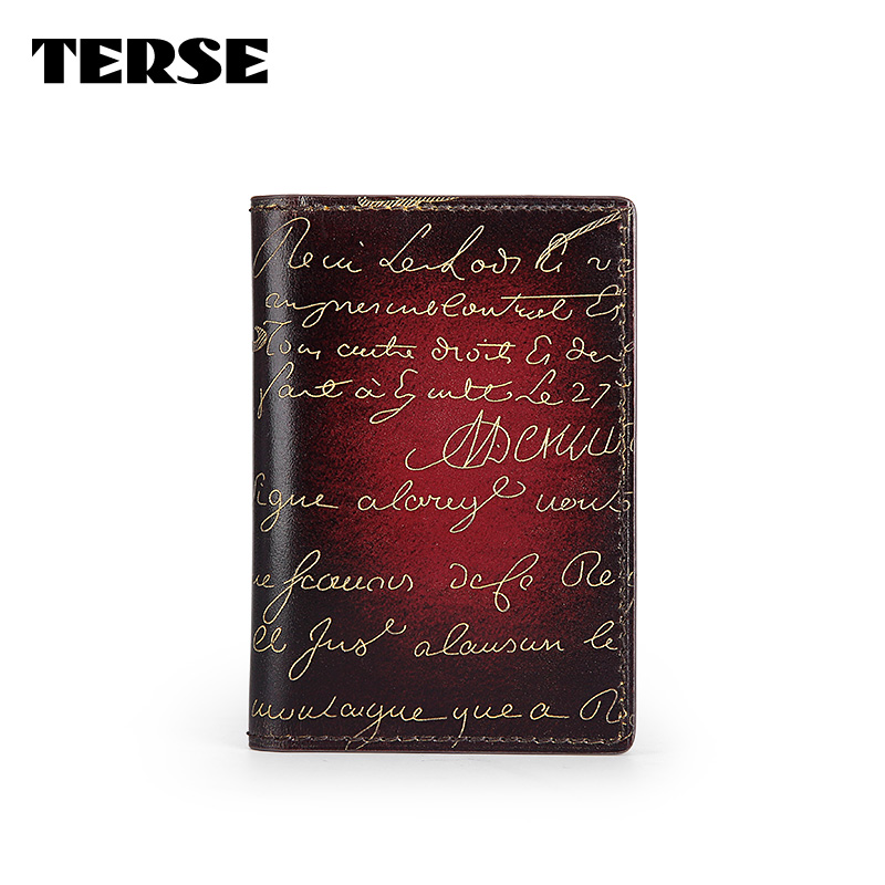 TERSE_Mens womens luxury golden engraving card holder handmade credit card wallet in 3 colors card id holder factory to customer<br><br>Aliexpress