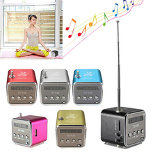 MINI FM radio Portable speaker TD-V26 Music Angel speaker with TF Card slot Loudspeaker subwoofer MP3 player for pc laptop