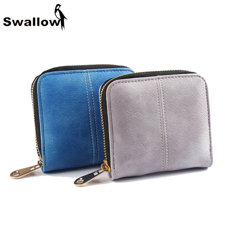 Small Scrub Short Women Wallets And Purses Luxury Brand Famous Thread Zipper Female Purse Clutches Ladies Leather Wallets Grey<br><br>Aliexpress