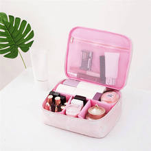 Multifunction Portable Cosmetic Bag Big Travel Lingerie Bra Underwear Dot Bags Cosmetic Makeup Toiletry Storage Organizer Case(China)