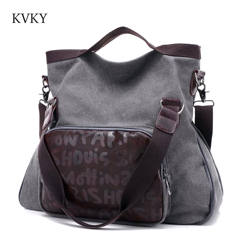 New Top Quality Vintage Women Handbag Canvas Tote Fashion Trendy Cross Body Shoulder bag Women Messenger Bags<br>