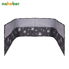 Naheber Breathable Mesh Crib Bumpers Baby Bedding Crib Liner Baby Cot Bed Around Protector 7 Color(China)