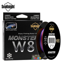 SeaKnight Monster W8 300M Braided Fishing Line 8 Strand Weaves Wide Angle Braided Technology Multi-Color 15LB 0.14mm PE Line(China)