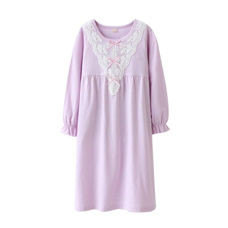 5faf1b0e0 2018 Floral Girls Sleepwear Dress Cotton Lace Pajamas For Girls ...
