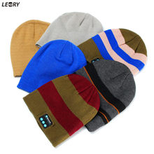 Buy LEORY Wireless Bluetooth Headphone Sport Music Hat Smart Headset Warm Outdoor Winter Cap Microphone Men Women for $5.51 in AliExpress store