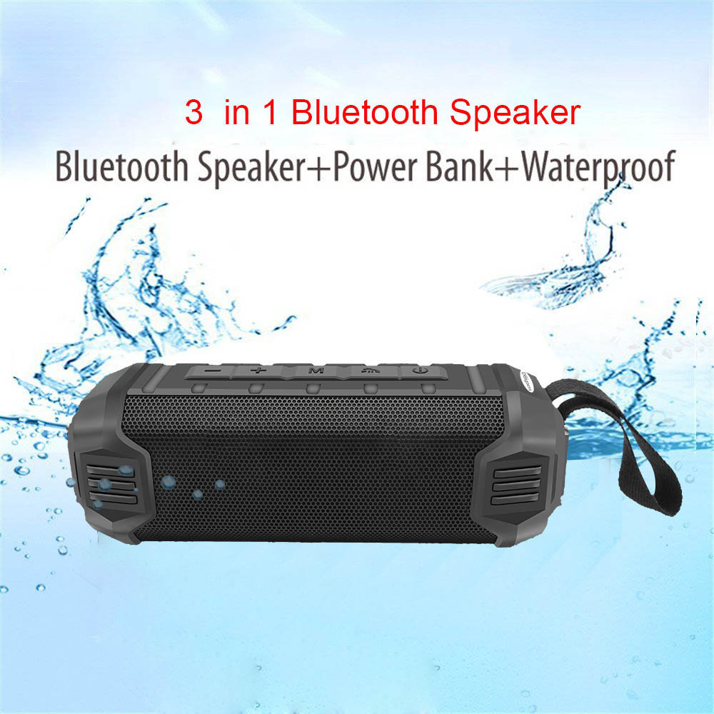 Dbigness Bluetooth Speaker Outdoor Wireless Stereo Portable Mic Built In Ipx4 Waterproof With