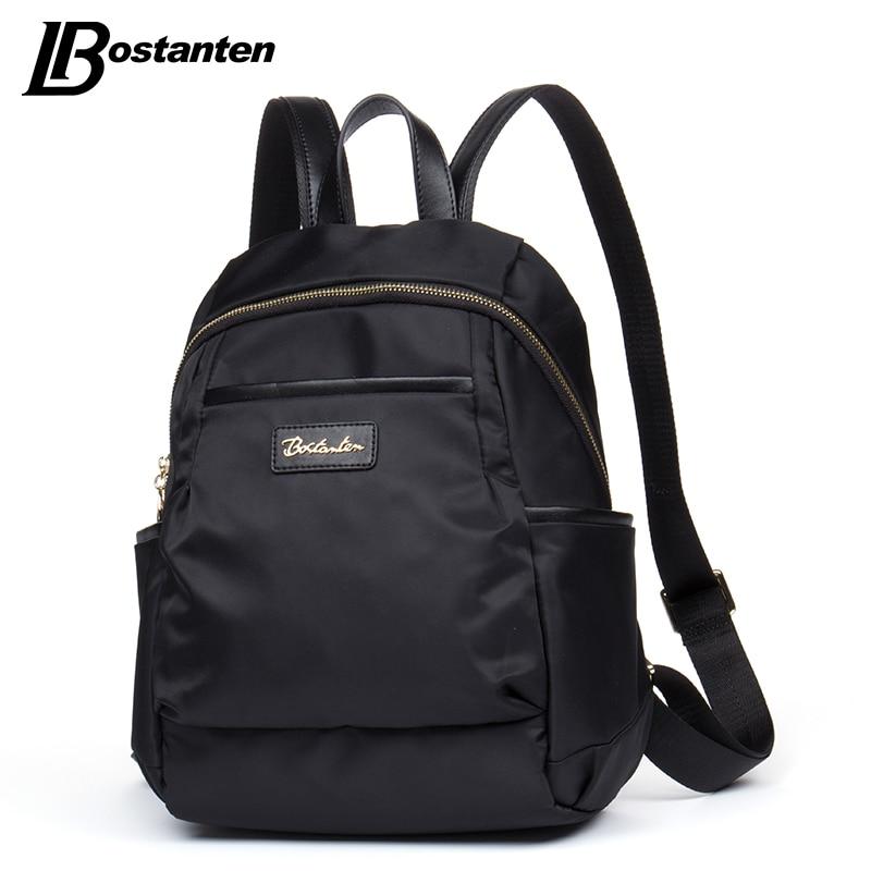 Bostanten Girls Backpacks Nylon Fashion Front Pocekts Zipper School Bags For Teenagers Waterproof Women Backpack Mochila<br>