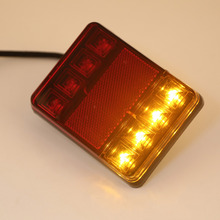 2 Units Taillights Warning Lights Truck Parts DC 12 V Tailights Car Auto Rear Tow Truck Boat Car 8 LED Bulbs Styling