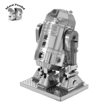 3D Metal Puzzles Earth Laser Cut Model Jigsaws DIY New Year Gift  Educational Toy for Kids Star Wars R2D2