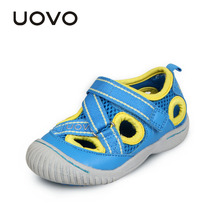 UOVO boy and girls toddler sandals closed toe sandals kids sandals for little girls breathable mesh children's sandals(China)