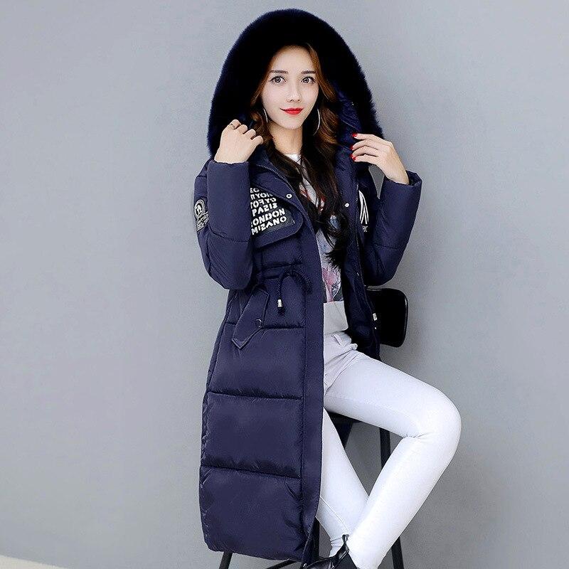 2017 Winter Women Hooded Coat Fur Collar Thicken Warm Long Jacket womens coat girls long slim big fur coat jacket Down ParkaÎäåæäà è àêñåññóàðû<br><br>