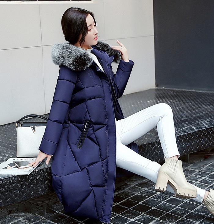 2017 Winter Women Coat Thicken Warm Long Jacket women coat girls long slim big coat jacket Down Parka+8 (1)