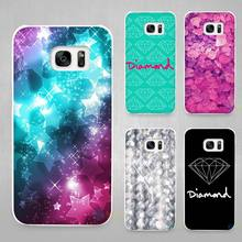 Diamonds Just Print Hard White Coque Shell Case Cover Phone Cases for Samsung Galaxy S4 S5 S6 S7 Edge Plus(China)