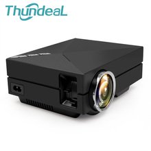 Mini Projector GM60 Upgrade GM60A Built-in Wired Sync Display EZcast LED LCD Beamer AC3 Home Theater HD Video 1080P HDMI VGA USB(China)