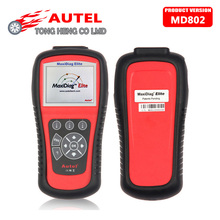 Original AUTEL MaxiDiag Elite MD802 All system + DS model MD 802 PRO (MD701+MD702+MD703+MD704) 100% Original Auto Code Reader