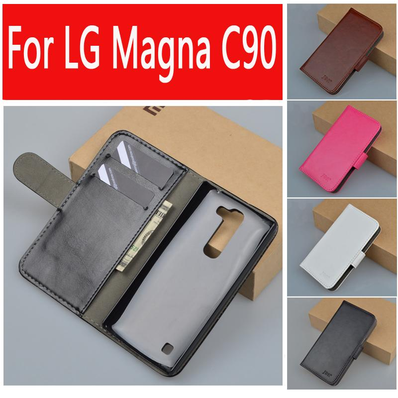 Original J&R Brand PU Leather Case LG Magna C90 H520N H502F H500F Wallet Bag ID Card Slots Stand Function