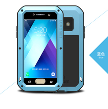for Samsung Galaxy A5 2017 A520F Case LOVE MEI Shock Dirt Proof Water Resistant Metal Armor Cover Phone Case for Samsung A3 2017(China)