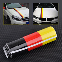 Buy CITALL 1.5M x 15cm DIY Germany Flag Sticker Car Auto Hood Body Roof Bumper Decal Stripe Decor Mercedes BMW Mazda VW Audi Kia for $3.47 in AliExpress store