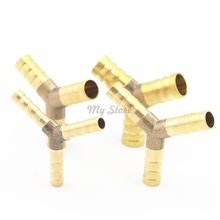 1Pc 6-12mm BRASS Y type Hose Joiner Piece 3 WAY Fuel Water Air Pipe TEE CONNECTOR(China)