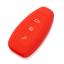 Silicone Car Key Cover Case Set Skin Fob Protector For Ford Ecosport Kuga Focus 2 3 ST Escape Mondeo Smart Keys Car Accessories