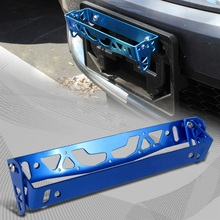Universal Adjustable Car Bumper Tilt License Number Plate Aluminum Bracket Kit for Auto Truck Black/Blue/Red/Silver(China)