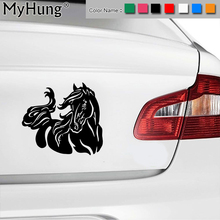 20*17.9CM Beautiful Fashion Horse Pattern Car Sticker Stylish Pet Equine Car Body Vinyl Decals Multi Color Stickers Car Styling