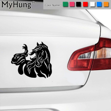 20*17.9CM Beautiful Fashion Horse Pattern Car Sticker Stylish Pet Equine Car Body Vinyl Decals Multi Color Stickers Car Styling(China)