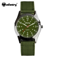 INFANTRY Men Quartz-watch Luminous Durable Nylon Strap 24 Hrs Display Military Sport Army Watch Male Clock Relogio Masculino(Hong Kong)
