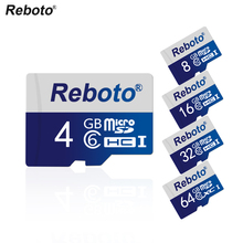 Reboto Micro SD Card 16GB 8GB 32GB 64GB memory card Class 10 UHS-1 TF Carte Microsd Flash SD Card 4GB Class6